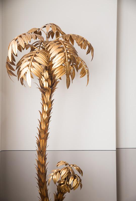 palm tree floor lamp Maison Janssen