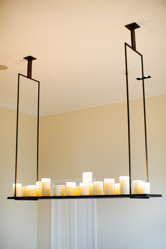 American chandelier from Kevin Reilly with candles